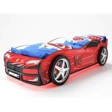 Кровать машина Карлсон Турбо Красная с подъемным механизмом