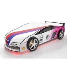 Кровать машина Карлсон Ламба Розовая с подъемным механизмом