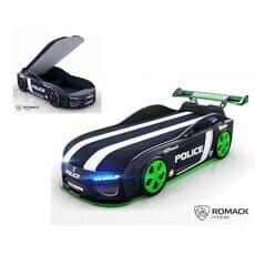 Кровать машина Romack Dreamer-M Plus Полиция черная (Ромак Дример-М)