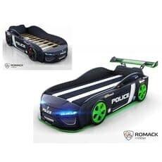 Кровать машина Romack Dreamer Plus Полиция черная (Ромак Дример)