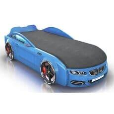 Детская кровать машина Romack Mebel Real-M BMW X5 голубая
