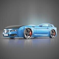 Детская кровать машина Romack Mebel Real-M Audi A7 голубая