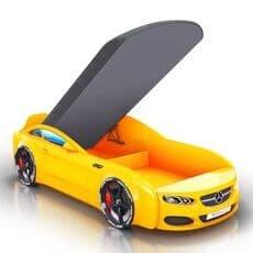 Детская кровать машина Romack Mebel Real-M Mercedes AMG желтая