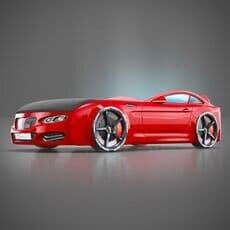 Детская кровать машина Romack Mebel Real-M BMW X5 красная