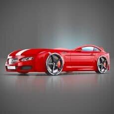 Детская кровать машина Romack Mebel Real-M Mercedes AMG красная