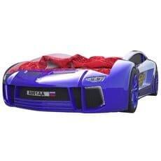 Кровать машина Карлсон Ламба Next Синяя с подъемным механизмом
