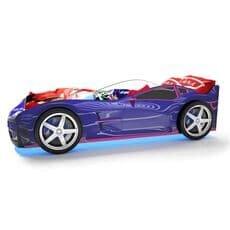 Кровать машина Карлсон Турбо Синяя с подъемным механизмом