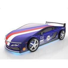 Кровать машина Карлсон Ламба Синяя с подъемным механизмом
