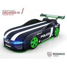 Кровать машина Romack Dreamer M Полиция черная (Ромак Дример М)