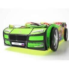 Кровать машина Карлсон Турбо Зеленая с подъемным механизмом