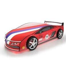 Кровать машина Карлсон Ламба Красная с подъемным механизмом