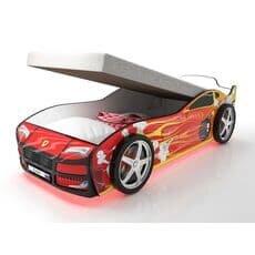 Кровать машина Карлсон Турбо Красная 2 с подъемным механизмом