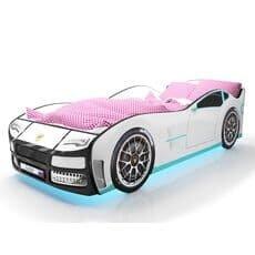 Кровать машина Карлсон Турбо Белая с подъемным механизмом