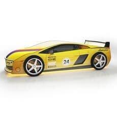 Кровать машина Карлсон Ламба Желтая с подъемным механизмом