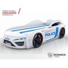 Кровать машина Romack Dreamer 2018 Полиция белая (Ромак Дример)